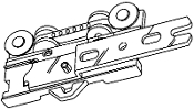 "Overlap Ripplefold Master Carrier, Right- fits 1-1/8"" H-Rail"