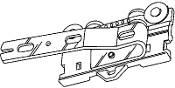 "Underlap Master Carrier, Left- fits 1-1/8"" H-Rail"
