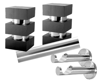 "Aurora Finial, 1-1/8"" Diam. Contemporary Rod Set"
