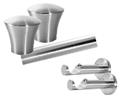 "Avalon Finial, 1-1/8"" Diam. Contemporary Rod Set"