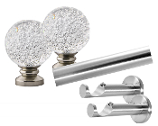 "Mystic Finial with Bubbles, 1-1/8"" Diam. Contemporary Rod Set"