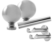 "Sphere Finial, 1-1/8"" Diam. Contemporary Rod Set"