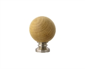 "Wood Ball Finial, fits 1-1/8"" Rod"