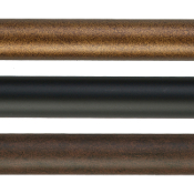 "4 Ft. Smooth Metal Pole, 1"" Iron Rod"