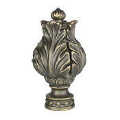 "Elizabethan Finial, fits 1"" Iron Rod"