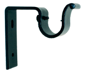 "3/4"" Iron Bracket, Traditional Iron, Drapery Hardware"
