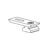 "Ceiling Bracket, fits 1-1/8"" Rail"