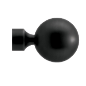 "Ball Finial, fits 1-3/16"" Iron Rod"
