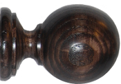 "Smooth Ball Finial, fits 1-3/4"" pole"