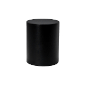 "Wood Cylinder Finial, fits 1-1/8"" Rod"
